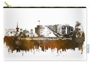 Thessaloniki Skyline City Brown Carry-all Pouch