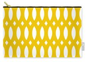Thick Curved Trellis With Border In Mustard Carry-all Pouch