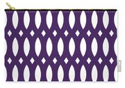 Thick Curved Trellis With Border In Purple Carry-all Pouch