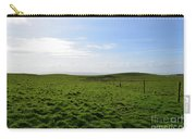 Thick Grass Field Abutting The Cliff's Of Moher In Ireland Carry-all Pouch