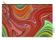 Thick Paint Orange Abstract Carry-all Pouch