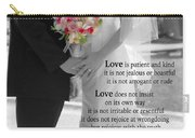Things To Remember About Love - Black And White #3 Carry-all Pouch