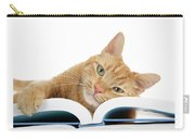 This Tabby Cat Loves Books  Carry-all Pouch