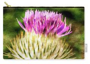 Thistle - The Flower Of Scotland Watercolour Effect. Carry-all Pouch