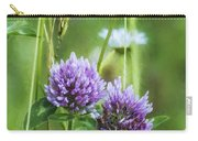 Clover And Daisies Carry-all Pouch