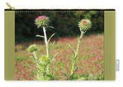 Thistles In A Field Of Clover Carry-all Pouch