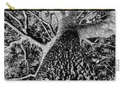 Thorn Tree Black And White Carry-all Pouch