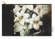 Thornton: White Lily Carry-all Pouch