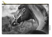 Thoroughbred - Black And White Carry-all Pouch