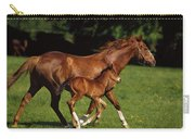 Thoroughbred Chestnut Mare & Foal Carry-all Pouch