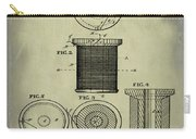 Thread Spool Patent 1877 Weathered Carry-all Pouch