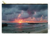 Threatening Sky Above The Caribbean Sea Off Isle De Mujeras' North Shore Carry-all Pouch
