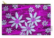 Three And Twenty Flowers On Pink Carry-all Pouch