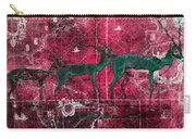 Three Antelope On Red Carry-all Pouch