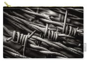Three Barbs In Black And White Carry-all Pouch