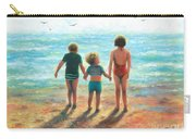 Three Beach Children Siblings  Carry-all Pouch