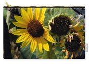 Three Beautiful Sunflower Carry-all Pouch