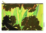 Three Black Irises, Painting Carry-all Pouch