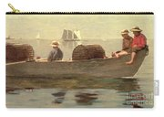 Three Boys In A Dory Carry-all Pouch by Winslow Homer