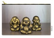 Three Buddha Statue Carry-all Pouch