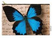 Three Butterflies Carry-all Pouch