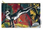 Three Cats 1913 Painting Of Cats Posing And Cleaning Themselves Carry-all Pouch