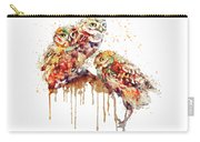 Three Cute Owls Watercolor Carry-all Pouch