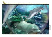 Three Dolphins Carry-all Pouch