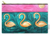 Three Flamingoes Carry-all Pouch