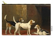 Three Fox Hounds In A Paved Kennel Yard Carry-all Pouch
