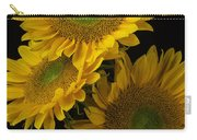 Three Golden Sunflowers Carry-all Pouch