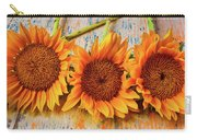 Three Graphic Sunflowers Carry-all Pouch