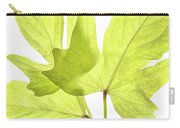 Three Green Leaves Carry-all Pouch