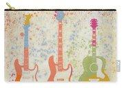 Three Guitars Paint Splatter Carry-all Pouch