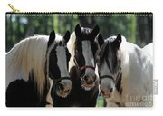 Three Gypsy Vanner Mares Carry-all Pouch