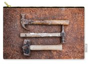 Three Hammers Against A Rust Background Carry-all Pouch