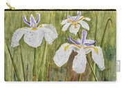 Three Irises In The Rain Carry-all Pouch