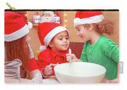 Three Kids Making Christmas Cookies Carry-all Pouch
