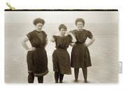 Three Ladies Bathing In Early Bathing Suit On Carmel Beach Early 20th Century. Carry-all Pouch