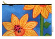 Three Ladybugs And Butterfly Carry-all Pouch