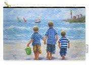 Three Little Beach Boys Walking Carry-all Pouch