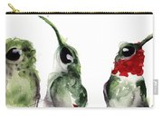 Three Little Hummers Carry-all Pouch