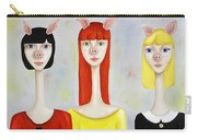 Three Little Pig Ladies  Carry-all Pouch