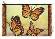 Three Monarch Butterflies Carry-all Pouch