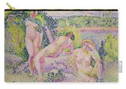 Three Nudes Carry-all Pouch by Henri Edmond Cross