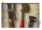 Three Old Worn Wrenches Carry-all Pouch
