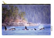 Three Orca Whales Carry-all Pouch
