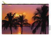 Three Palm Trees At Sunset Carry-all Pouch