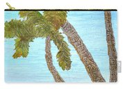 Three Palms At The Beach Carry-all Pouch