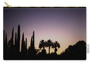 Three Palms In California At Sunset Carry-all Pouch